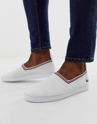 Lacoste lydro plimsoll in white/red
