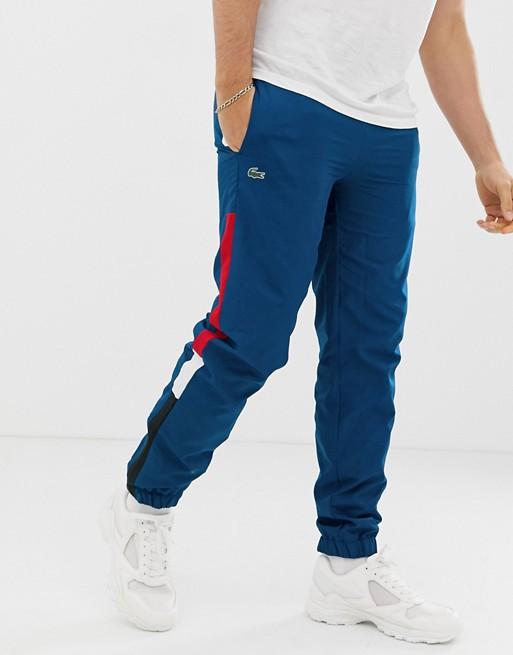 Lacoste side stripe jogging bottoms
