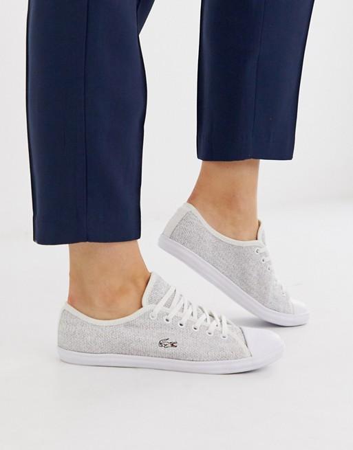Lacoste – Weiße Sneaker zum Schnüren