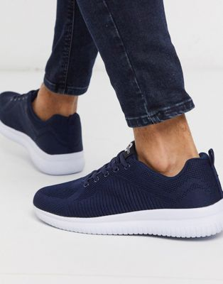 Lambretta knitted trainer in navy
