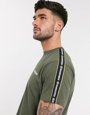 Lambretta taped t-shirt in khaki