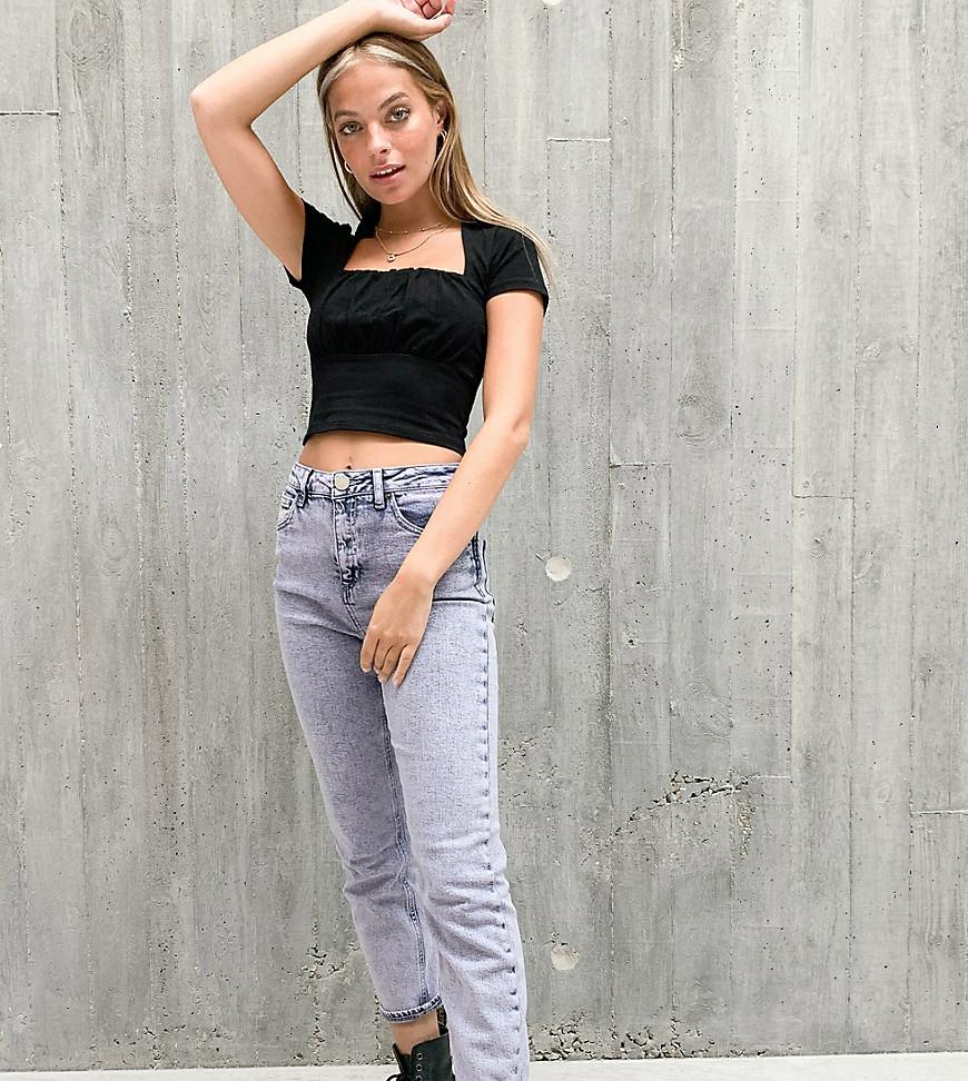 Лавандовые джинсы в винтажном стиле с завышенной талией ASOS DESIGN Petite-Фиолетовый