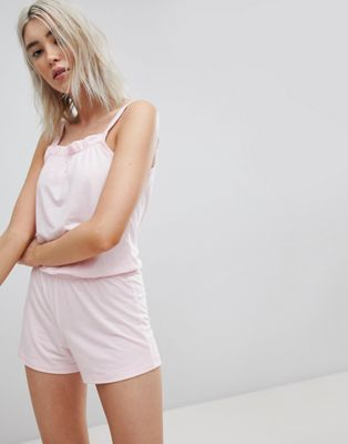 Lazy Days Blush – Playsuit med volanger