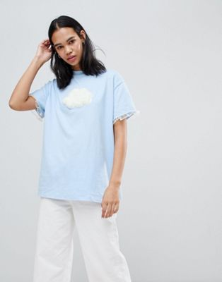 Lazy Oaf Fluffy Cloud Oversize T-Shirt