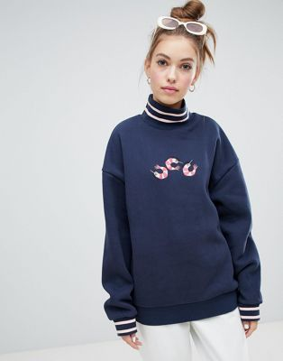 Lazy Oaf prawn roll neck sweater