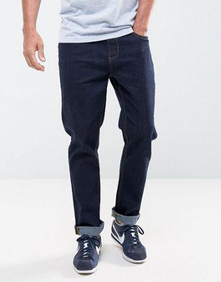 LDN DNM - Jeans slim indaco grezzo