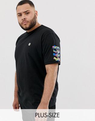 Bild 1 von Le Breve Plus – Langes T-Shirt mit Schablonendruck hinten