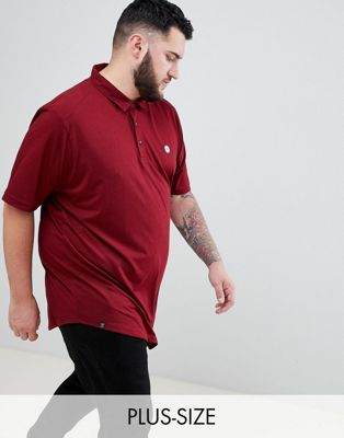 Le Breve - PLUS - Poloshirt met ronde zoom en vlakken op de achterkant