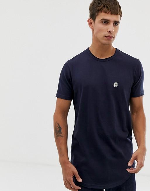 Image 1 of Le Breve raw edge longline t-shirt