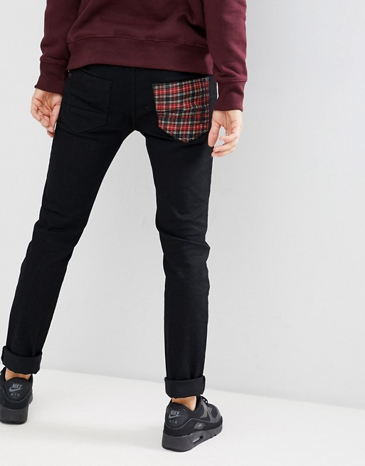 Image 1 of Le Breve Skinny Fit Tarten Pocket Jeans