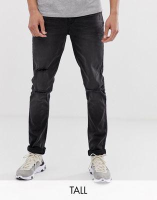 Bild 1 av Le Breve Tall – Slitna jeans i skinny fit