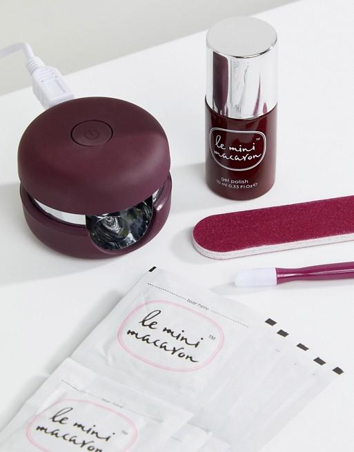 Le Mini Macaron Gel Manicure Kit - Cassis