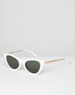 Le Specs enchantress cat eye sunglasses in white