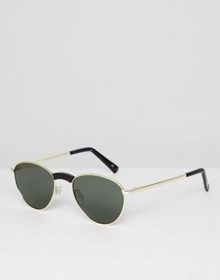 Le Specs hot stuff edition aviator sunglasses in gold