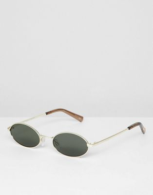 Le Specs love train round sunglasses in gold