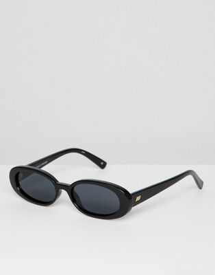 Le Specs outta love oval sunglasses in black