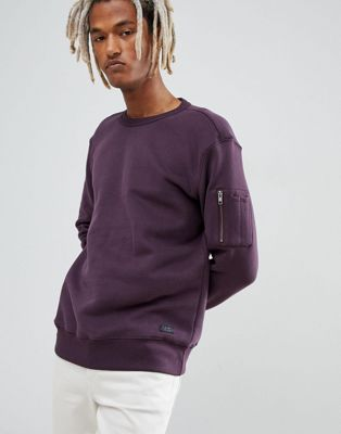 Image 1 sur Lee - Sweat-shirt ras du cou avec poche sur la manche
