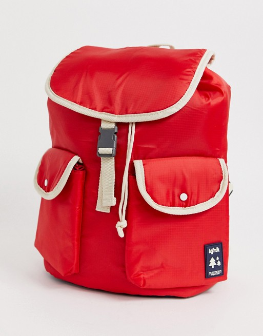 Lefrik – Knapsack – Roter Rucksack aus recycelten Materialien