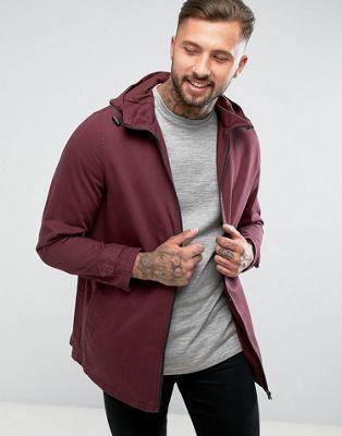 Легкая бордовая куртка-парка ASOS