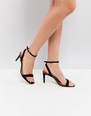 Легкие босоножки на каблуке ASOS HALF TIME
