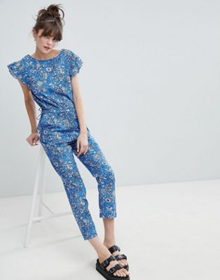Leon and Harper Retro Floral Print Jumpsuit