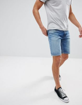 Levi's 502 Raw Hem Tapered Shorts Bob Midwash