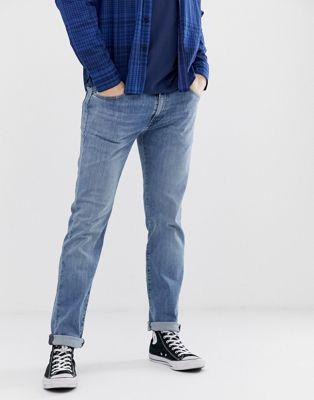 Bild 1 av Levi's – 511 Solblekta slim jeans med låg midja