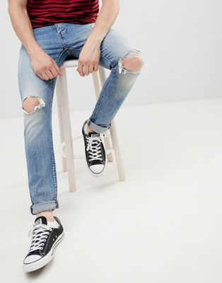 Levi's – 512 – Monsoon – Mellanblå avsmalnande slim jeans