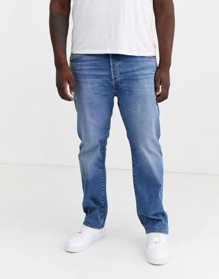 Levi's Big & Tall – 501 Original – Ljusblå straight jeans med medelhög midja