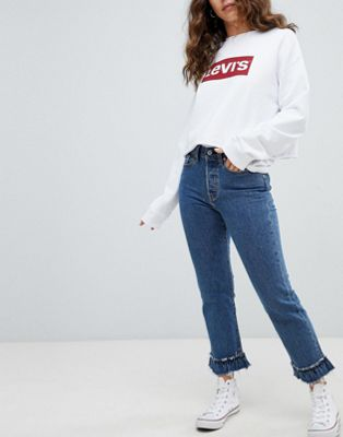 Bild 1 von Levi's – Jeans mit hohem Bund und ausgefranstem Saum
