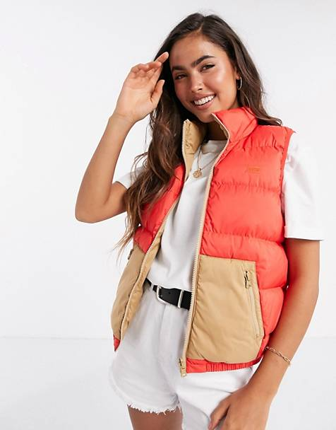 Levi's Lydia reversible padded gilet in red