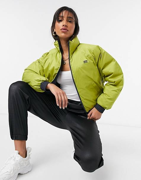 Levi's Lydia reversible puffer jacket in yellow