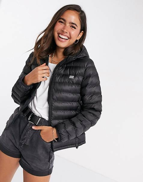Levi's Pandora packable padded jacket in black