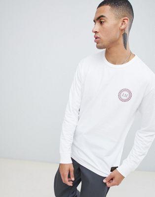 Levis Skateboarding - T-shirt à manches longues avec logo écusson - Blanc