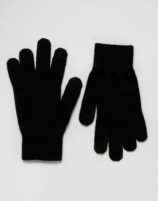 Levi's Touch Screen Gloves In Black
