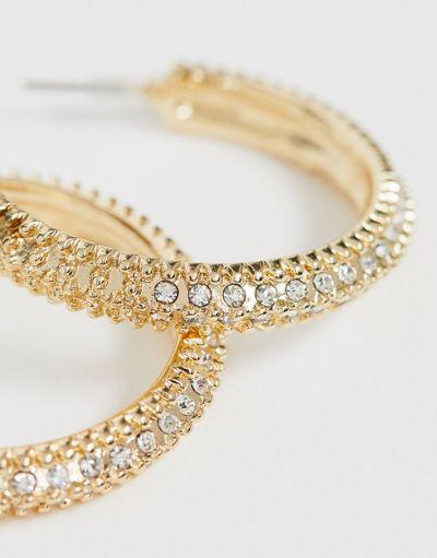 Liars and Lovers rhinestone gold hoop earrings