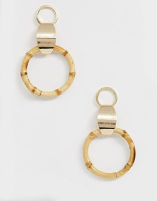 Image 1 of Liars & Lovers bamboo front facing hoop earrings