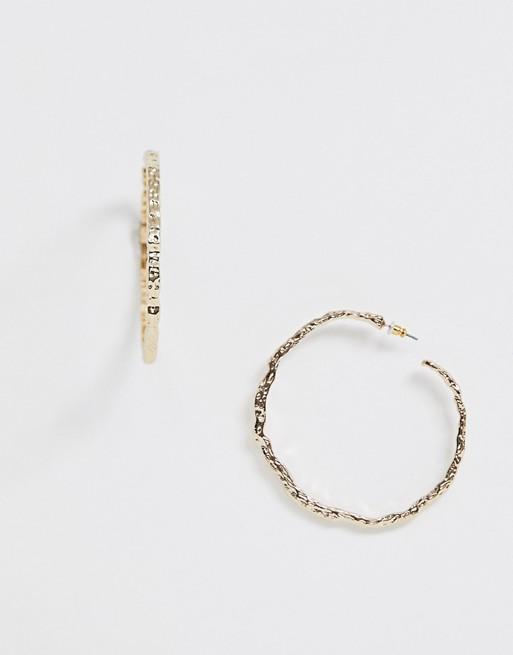 Liars & Lovers hammered gold oversized hoop earrings