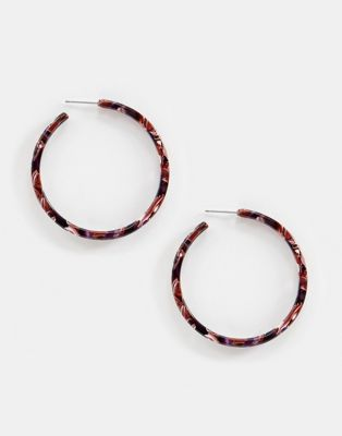 Image 1 of Liars & Lovers mutli resin hoop earrings