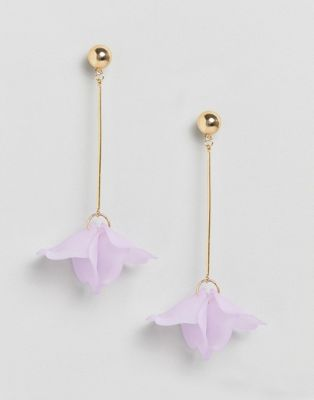 Liars & Lovers Simple Bar Floral Drop Earrings
