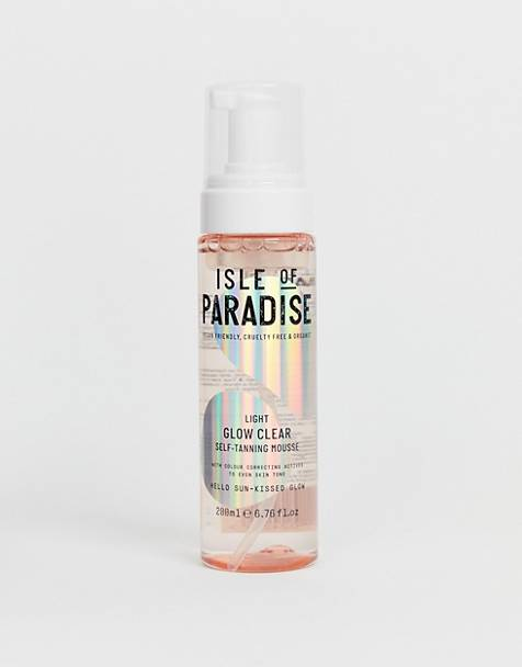 Light Glow Clear Self Tanning Mousse fra Isle of Paradise