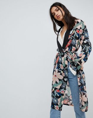 Lily and Lionel Long Kimono Jacket in Vintage Floral