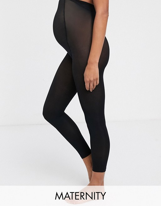 Lindex Maternity - Collant stile leggings in materiale supersoft riciclato senza piede neri