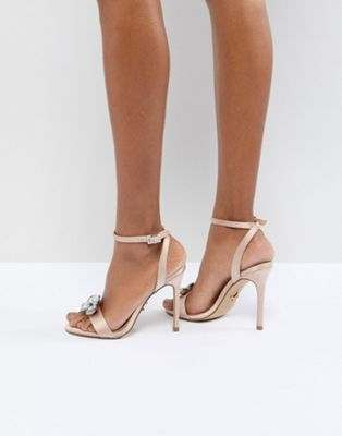 Lipsy Barely There Heeled Sandal With Embellishment