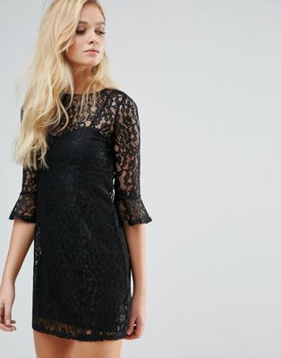 Lipsy Bell Sleeve Lace Dress