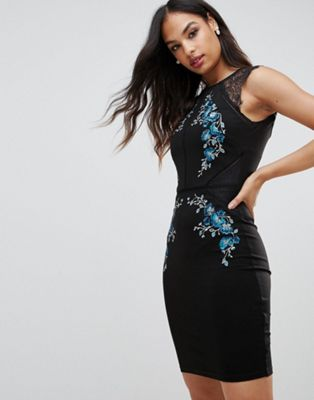 Lipsy Bodycon Dress With Embellished Detail