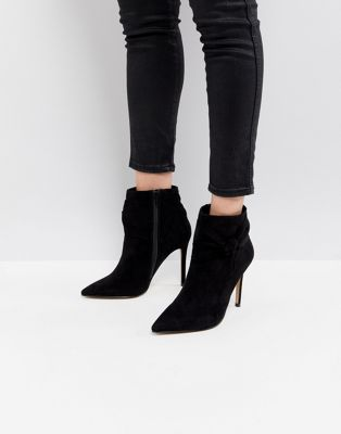 Lipsy Bow Detail Pointed Ankle Boot