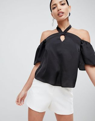 Lipsy Halterneck Satin Top