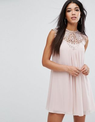 Lipsy Lace Detail Swing Dress