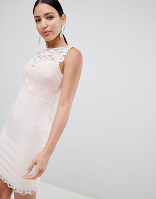 Lipsy lace top bodycon midi dress